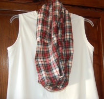 plaid scarf and tank 2