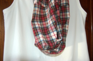 plaid scarf and tank