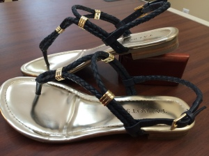 Talbots Lalli Braided Leather Thong Sandals 3