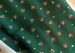 green small floral